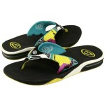 Reef Fanning Color Print Blue Yellow Green Black