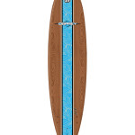 Osprey 8 foot Surfboard Brown Wood Blue