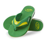 Reef Flip Flops Green Yellow Fanning